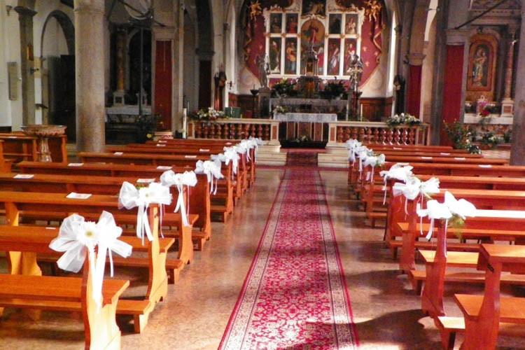 Allestimento Chiesa per Comunione