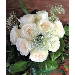 Ciotola Rose Bianche