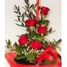 Mazzo 5 Rose Rosse gambo lungo